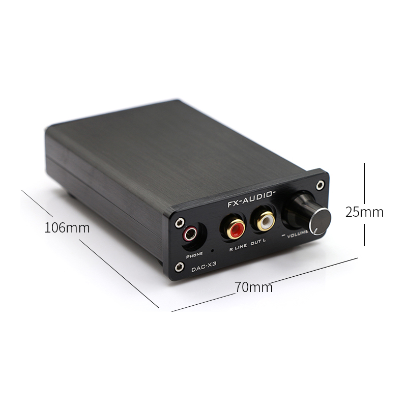 DAC-X3 - Digital to Analog Converter - Dimensions