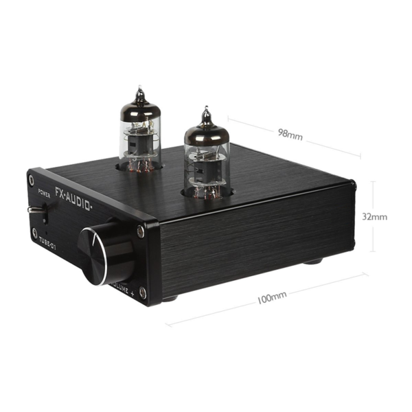 Tube-01 – Audio Tube Buffer Preamp - Black Dimensions