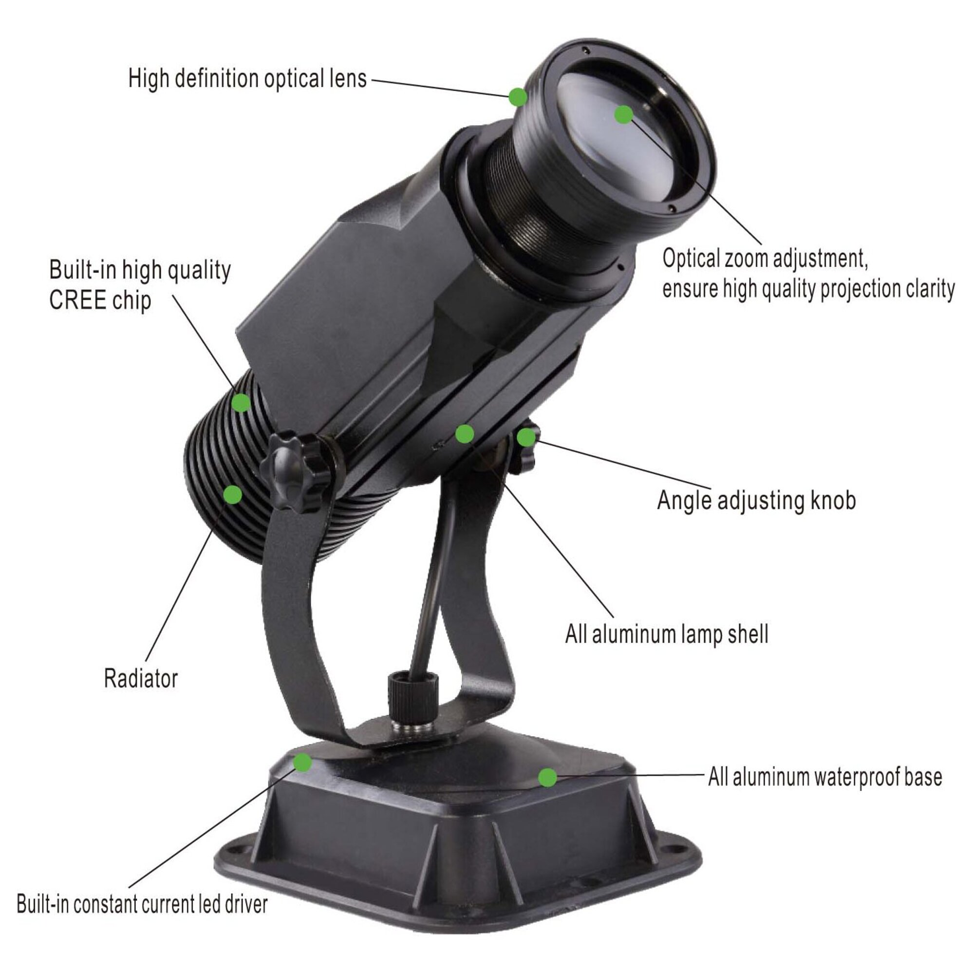 Gobo Logo Projector - Projection Light - 15 Watt - Static Motionless - Instructions