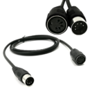 Audio MIDI Extension Cables - Male to Female - 5 pin DIN