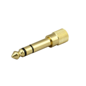 Audio Jack Head Adapter - 6.5mm Male to 3.5mm Female - Gold