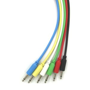 "Mono Modular Cables - TS 3.5mm 1/8"" - 6 Pieces 6 Colors"