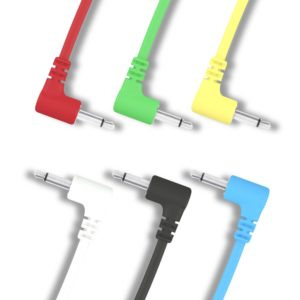 "Right Angle Mono Modular Cables - TS 3.5mm 1/8"" - 6 Pack"