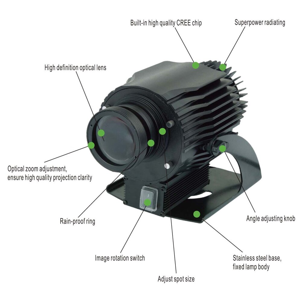 Rotating Gobo Logo Projector 40 Watt - Instructions