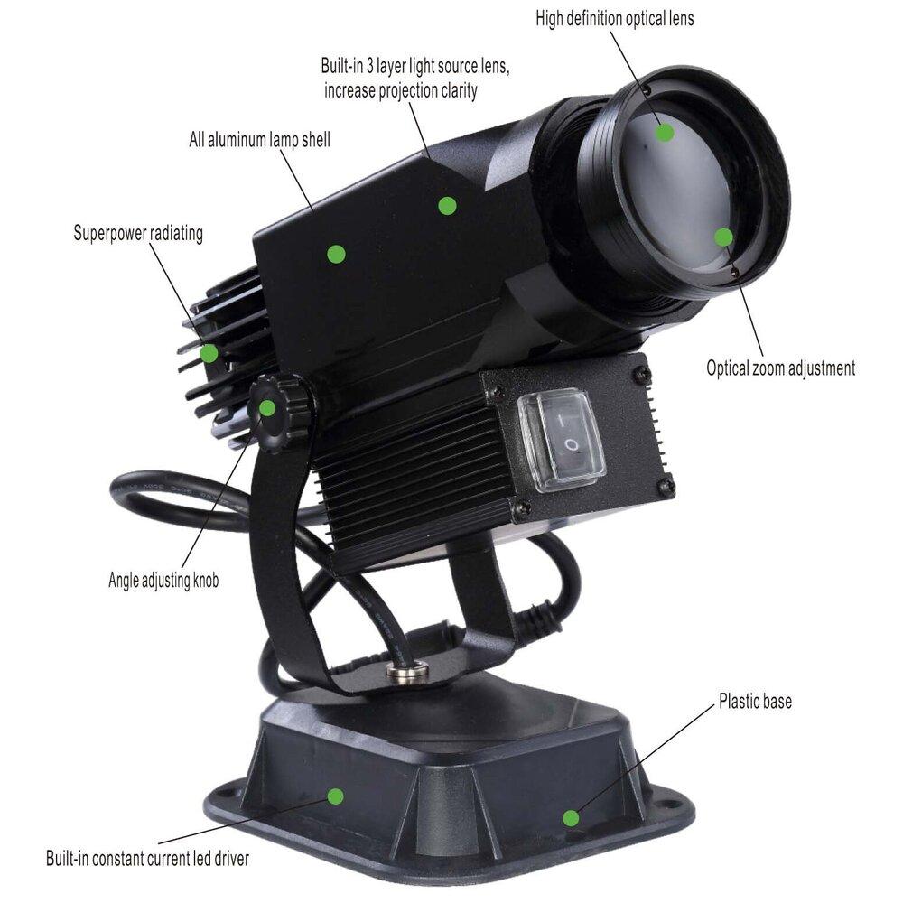 Rotating Gobo Logo Projector 30 Watt - Instructions