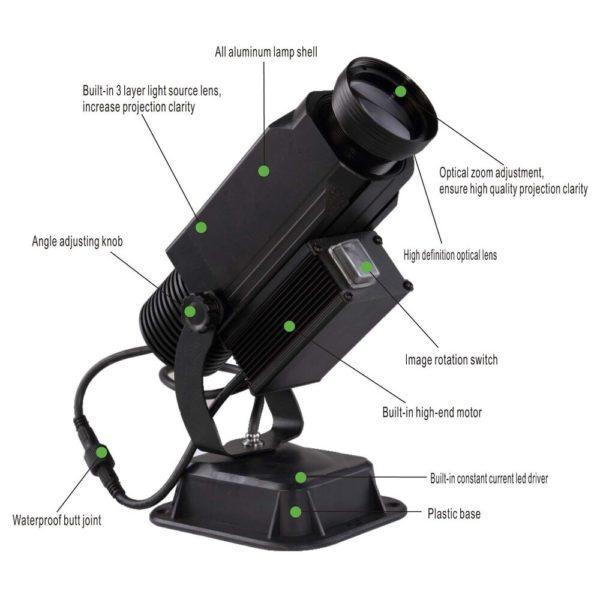 Rotating Gobo Logo Projector 15 Watt - Instructions