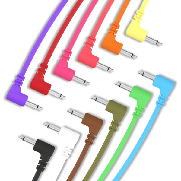 """5 Pack - Right Angle Modular Patch Cables - 3.5mm 1/8"""""""